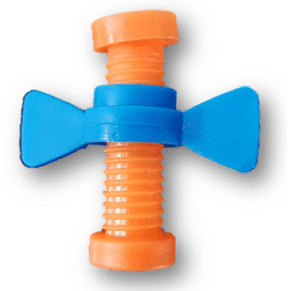 Twisty Pencil Topper Fidget Orange Blue