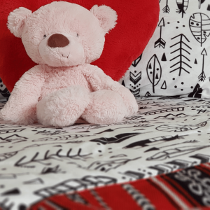 Cartoon Tribal Feather Weighted Blanket Red Lookbook