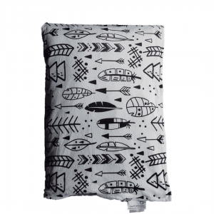 Cartoon Tribal Feather Weighted Blanket Top View W