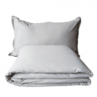 Grey and White Weighted Blanket & Pillow