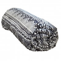 Aztec Tribal Weighted Blanket rolled